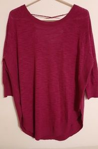 Express Crimson Sweater Blouse with Lace up back M